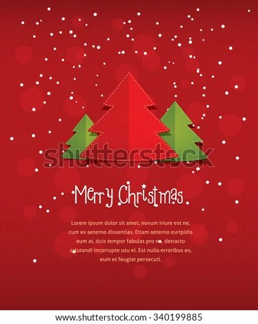 Merry Christmas Postcard Vector Flat Style Stock Vector HD (Royalty - merry email template