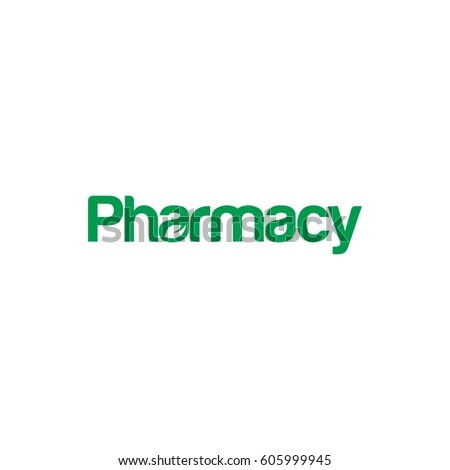 Pharmacy Letter Logo Design Stock Vector HD (Royalty Free) 605999945 - pharmacy letter