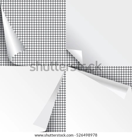 Pages Curl Set Stylish Illustration Vector Stock Photo (Photo - Culring Pajis