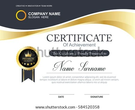 Vector Certificate Template Stock Vector HD (Royalty Free) 584520358 - certificate templat