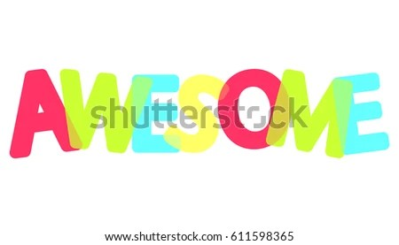 Awesome Colorful Poster Word Design Template Stock Vector 611598365 - poster word template