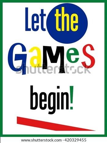 Let Games Begin Word Clip Art Stock Illustration 420329455 - word clip art