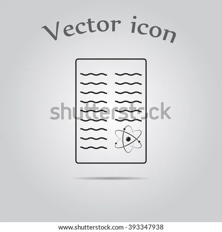 Scientific Report Icon Stock Vector 393347938 - Shutterstock