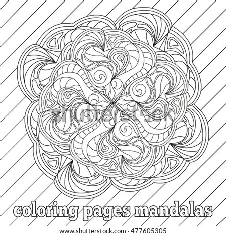 Antistress Coloring Pages Adults Older Children Stock Vector - Culring Pajis
