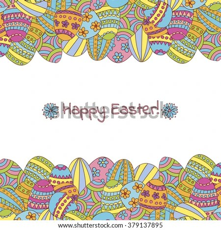 Easter Greeting Card Template Stock Vector 379137895 - Shutterstock - easter greeting card template