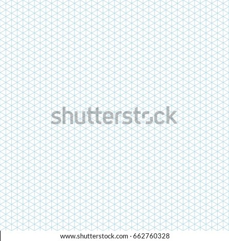Blue Vector Isometric Grid Graph Paper Stock Vector (2018) 662760328