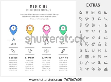 Medicine Timeline Infographic Template Elements Icons Stock Vector - medical timeline template