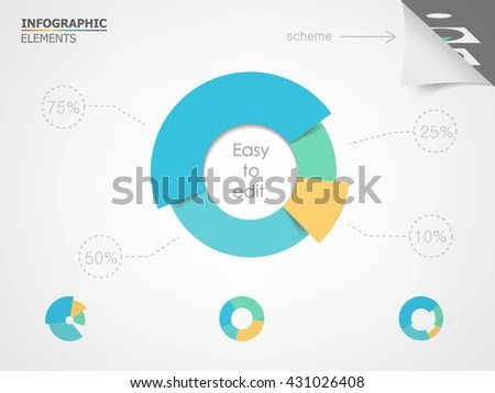 Pie Chart Elements Infographic Presentation Templates Stock Photo - pie chart templates