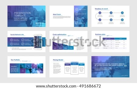Elements Infographics Presentations Templates Leaflet Annual Stock - Presentations Template