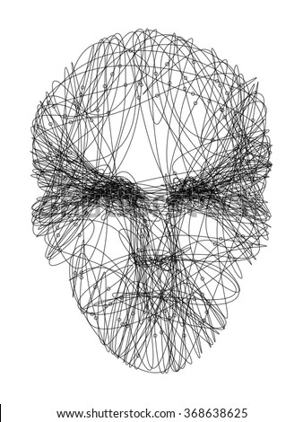 Line Drawing Representing Young Mans Face Stock Vector (Royalty Free - line drawing