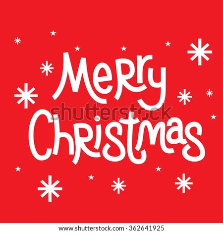 Christmas Greeting Words Merry Christmas Stock Vector 362641925