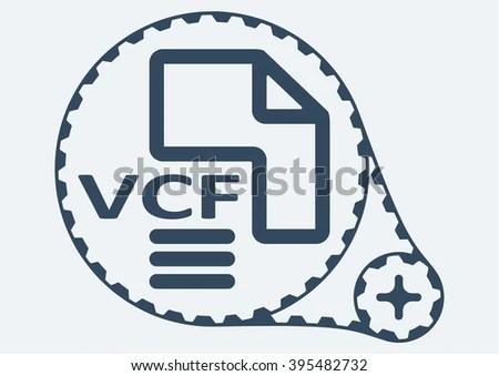 Flat Vector Illustration VCF File Extension Stock Photo (Photo