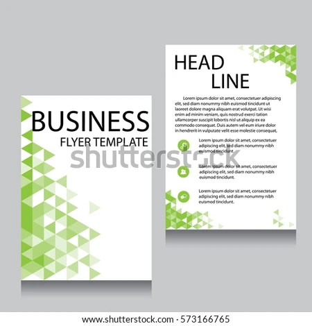 Vector Brochure Flyer Design Layout Template Stock Vector 573166765 - flyer layout templates