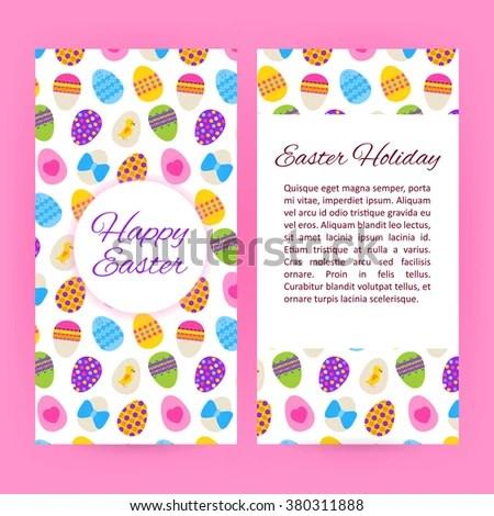 Happy Easter Flyer Brochure Template Vector Stock Vector (2018 - easter flyer template