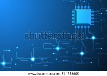 Vector Abstract Background Electronic Circuit Design Stock Vector - circuit design background