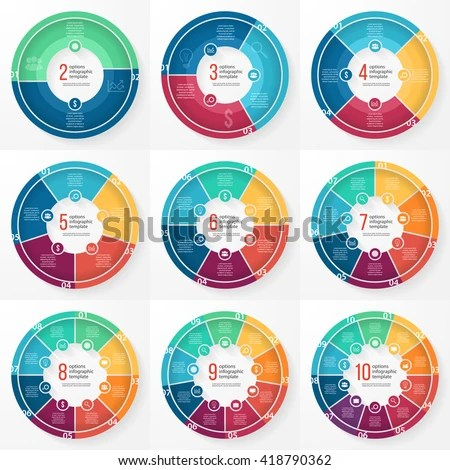 Vector Pie Chart Templates Graphs Charts Stock Vector 418790362 - graphs and charts templates