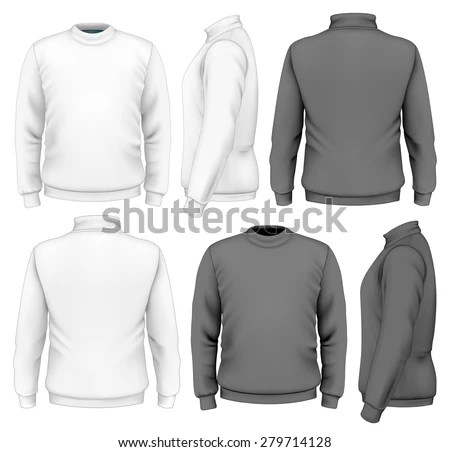 Mens Sweater Design Template Front View Stock Vector 279714128