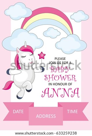 Baby Shower Invitation Template Image Cute Stock Photo (Photo - baby shower invitation templates