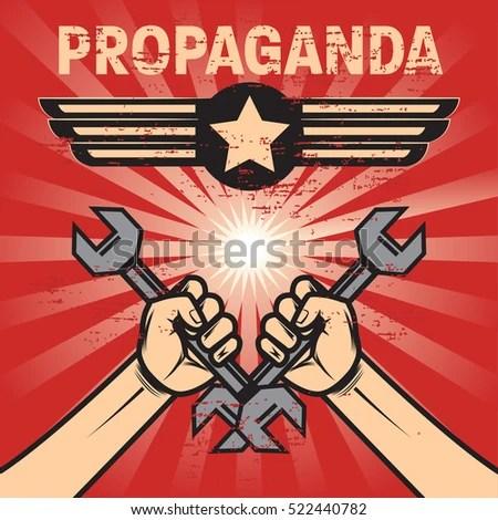 Propaganda Poster Template Stock Vector (2018) 522440782 - Shutterstock - propaganda poster template