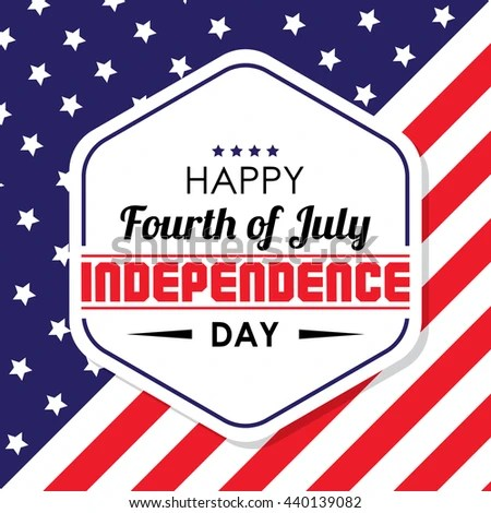 Happy Independence Day United States America Stock Vector 440139082