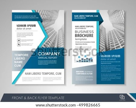 Front Back Page Annual Report Brochure Stock Photo (Photo, Vector - leaflet template