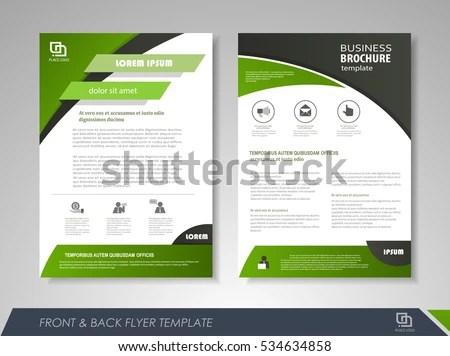 Green Annual Report Brochure Flyer Design Stock Vector (2018 - leaflet template