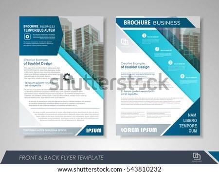 Blue Annual Report Brochure Flyer Design Stock Vector (2018 - leaflet template