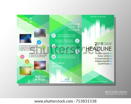 Brochure Design Template Business Broadsheet Concept Stock Vector