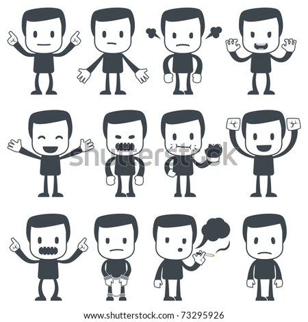 stock-vector-vector-illustration-of-a-simple-cute-characters-for - resumes etc