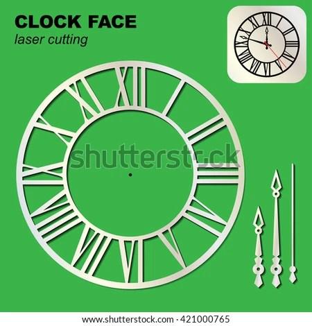 Clock Face Template Arrows Suitable Laser Stock Vector (2018 - clock face template