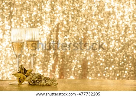 Christmas New Year Theme Background Champagne Stock Photo (Royalty - christmas theme background