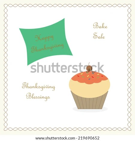 Thanksgiving Cupcake Bake Sale Stock Illustration 219690652