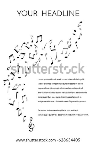Vector Flyer Brochure Template Hand Drawn Stock Vector HD (Royalty - treble clef template
