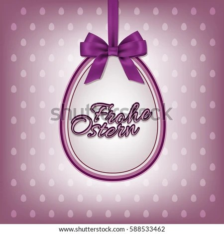 Happy Easter Greeting Card Template German Stock Vector 588533462 - easter greeting card template
