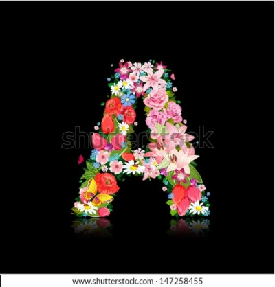 Romantic Letter Beautiful Flowers Stock Vector 147258455 - Shutterstock