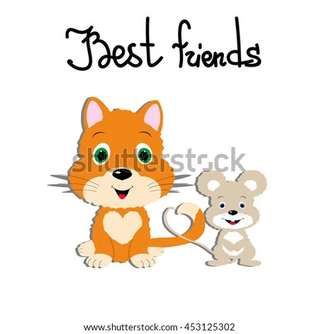 Template Greeting Card Friendship Day Couple Stock Vector (2018