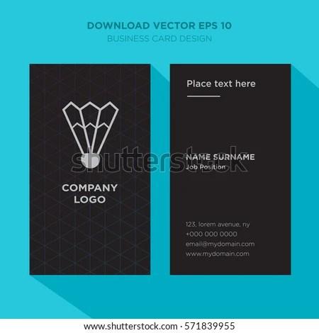 Template Elegant Business Card Tennis Sport Stock Vector 571839955 - club card design