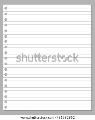Illustration Blank Sheet Square Lined Paper Stock Vector 791592952