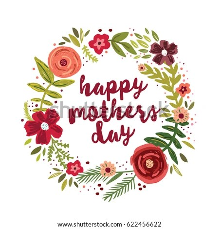 Happy Mothers Day Greetings Card Stock Vector 622456622 - Shutterstock - mother's day