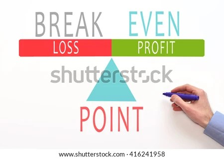 Breakeven Analysis Breakeven Graph Break Even Stock Photo (Download