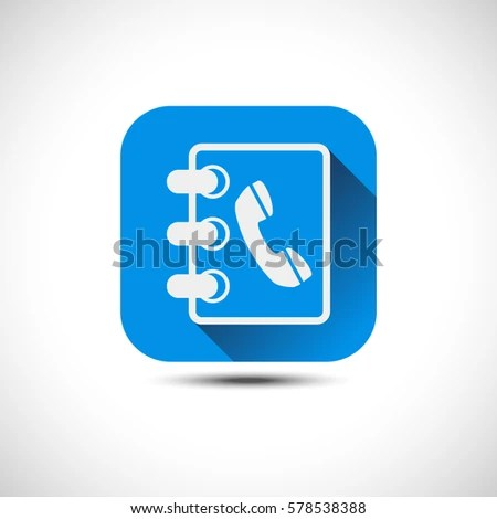 Isolated Blue Phonebook Icon Address Book Stock Vector 578538388 - phonebook by address