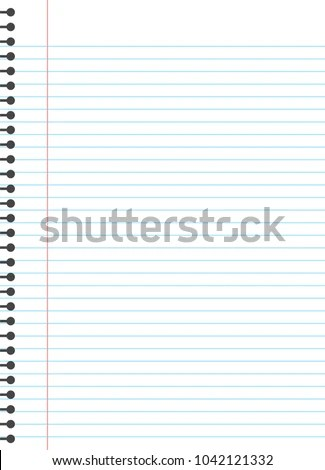 Blank Lined Paper Template One Page Stock Vector 1042121332 - blank lined paper template