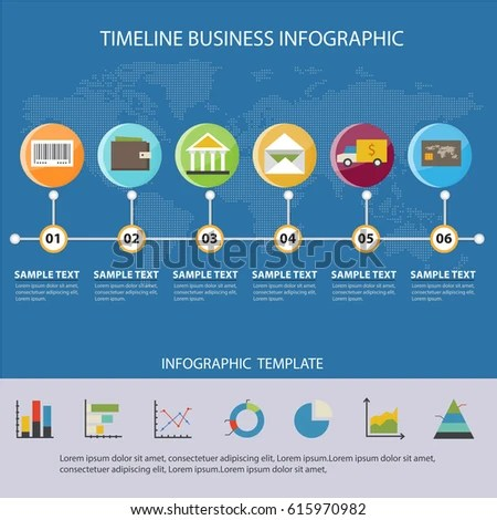 Colorful Timeline Business Infographic Presentations Advertising - sample advertising timeline