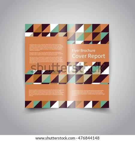 Vector Twofold Brochure Design Template Abstract Stock Vector - two fold brochure