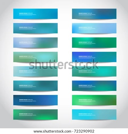 Vector Banners Templates Website Headers Footers Stock Vector