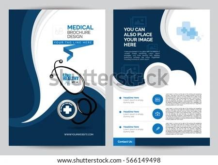 A 4 Medical Brochure Design Template Front Stock Vector (2018 - medical brochure