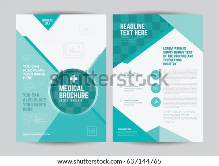 A 4 Medical Flyer Brochure Layout Template Stock Vector HD (Royalty