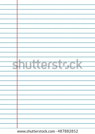 Exercise Book Paper Lines Writing Texture Stock Vector 487882852 - lines paper