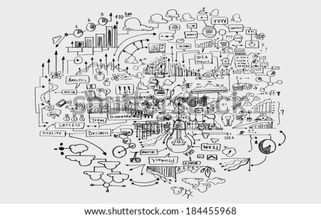 Hand Drawn Background Business Sketches Ideas Stock Illustration - background sketches