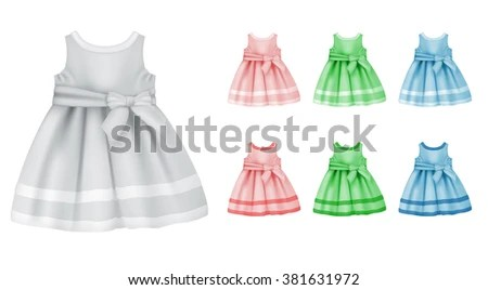 Baby Dress Blank Template Stock Vector (Royalty Free) 381631972